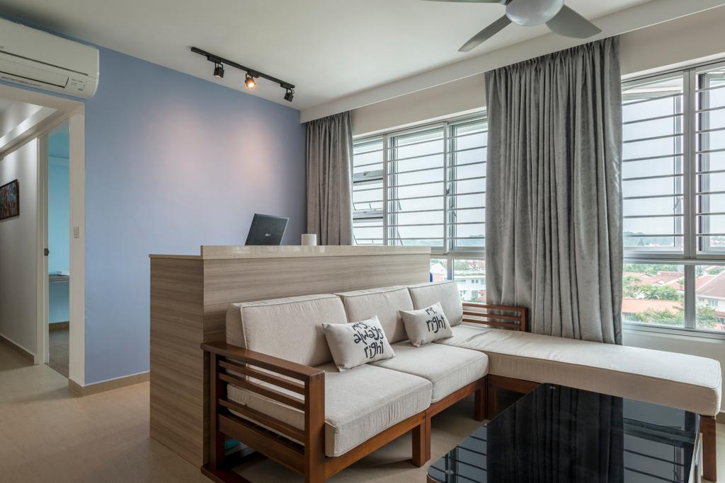 Scandinavian, HDB, Living Room, Kebun Baru Court, Interior Designer, DreamCreations Interior, Building, Housing, Indoors, Loft, Light Fixture
