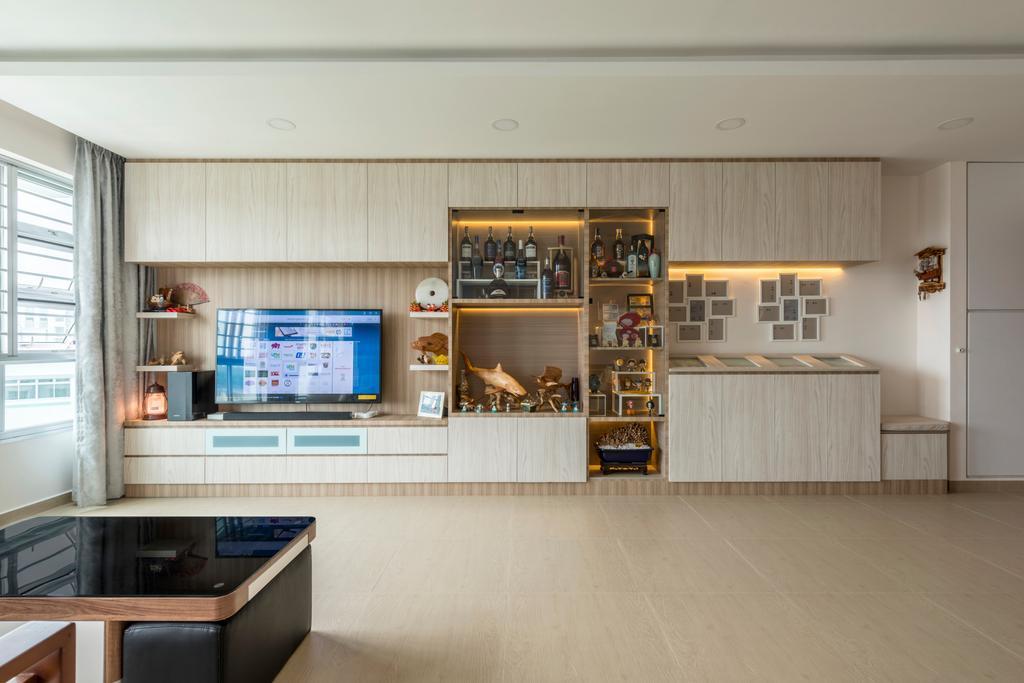 Scandinavian, HDB, Living Room, Kebun Baru Court, Interior Designer, DreamCreations Interior, Flooring