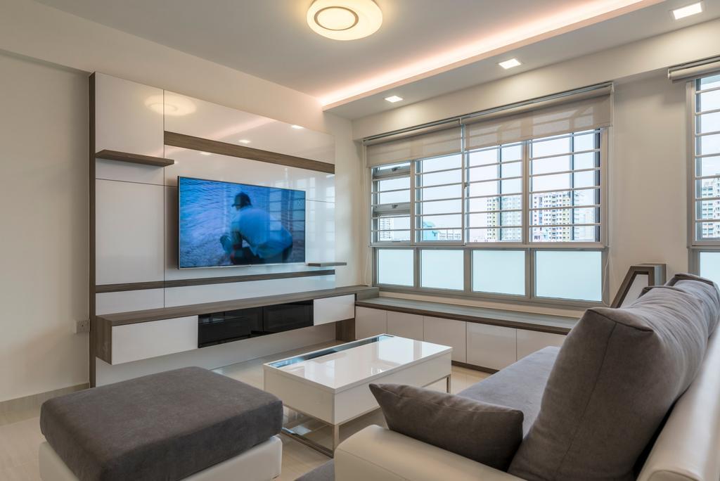 HDB, Living Room, Boon Lay Avenue, Interior Designer, New Age Interior, Couch, Furniture, Indoors, Interior Design, Animal, Aquarium, Sea Life, Water