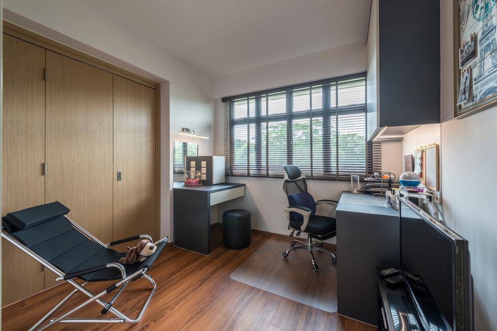 Scandinavian, HDB, Study, Yishun Avenue 4, Interior Designer, DS 2000 Interior & Design, Chair, Furniture, Building, Housing, Indoors