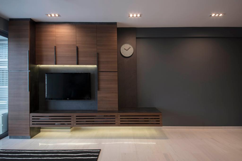 Scandinavian, Condo, Living Room, D' Chateau @ Shelford, Interior Designer, Starry Homestead, Electronics, Entertainment Center