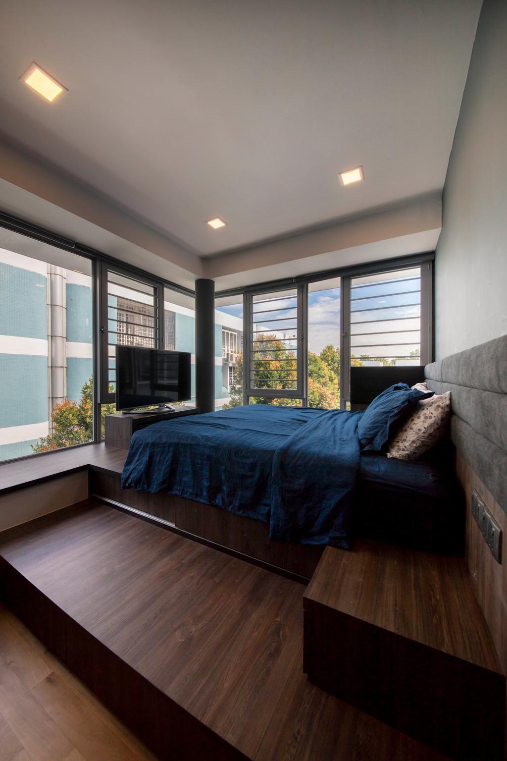 Scandinavian, Condo, Bedroom, D' Chateau @ Shelford, Interior Designer, Starry Homestead, Indoors, Interior Design, Room