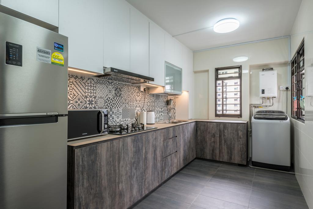 Modern, HDB, Kitchen, Bukit Panjang Ring Road, Interior Designer, New Age Interior, Appliance, Electrical Device, Washer