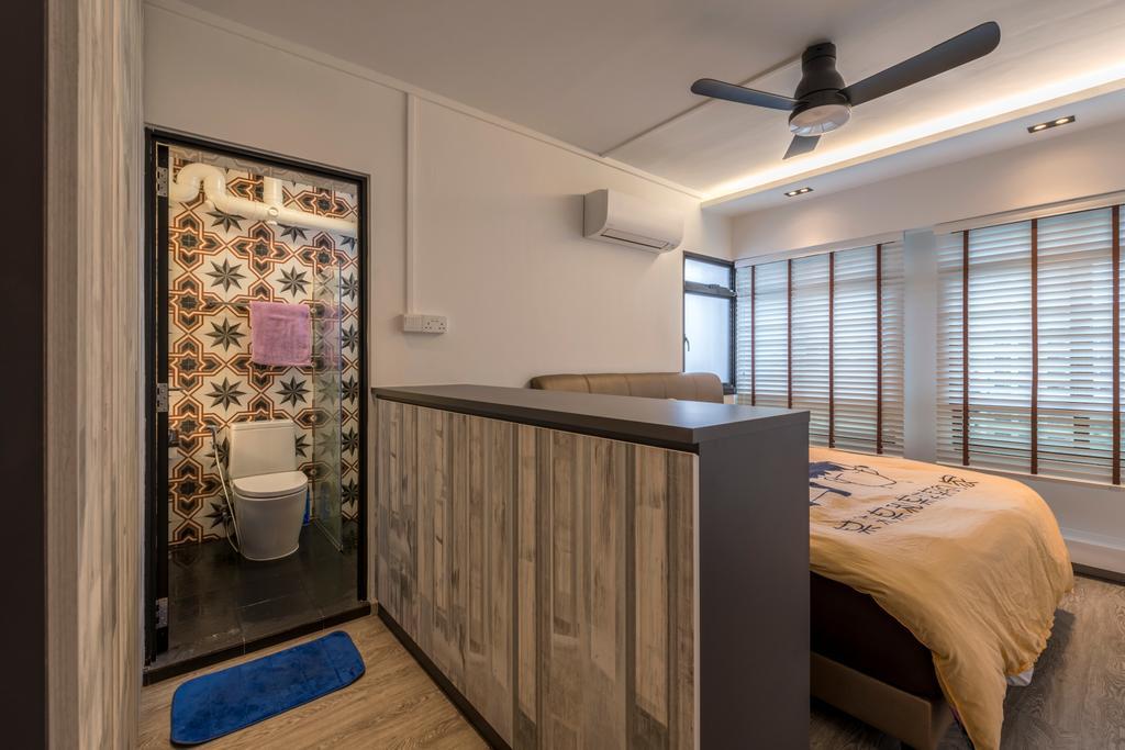 Modern, HDB, Bedroom, Bukit Panjang Ring Road, Interior Designer, New Age Interior, Toilet, Bed, Furniture
