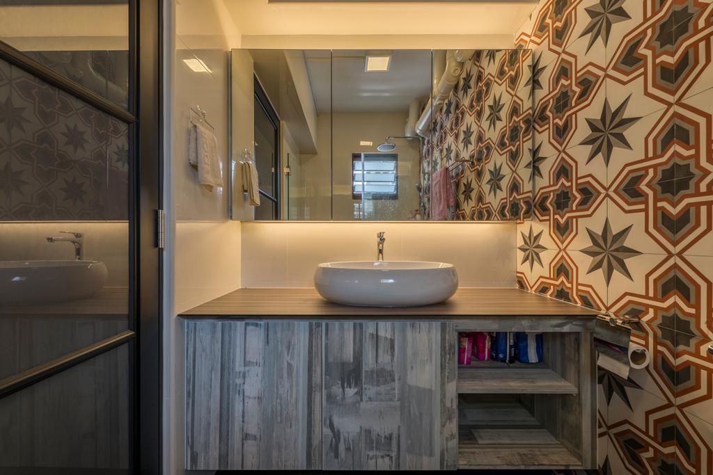 Modern, HDB, Bathroom, Bukit Panjang Ring Road, Interior Designer, New Age Interior, Sink, Indoors, Interior Design