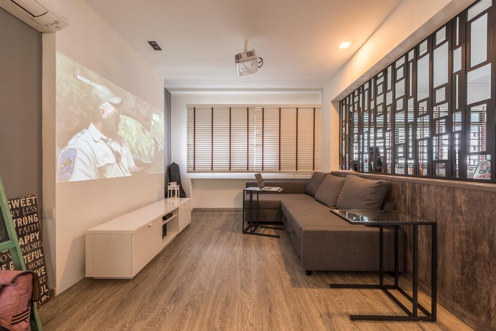 Modern, HDB, Living Room, Bukit Panjang Ring Road, Interior Designer, New Age Interior, Hardwood, Wood