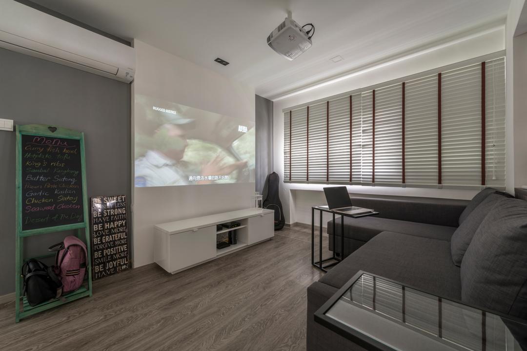Bukit Panjang Ring Road, New Age Interior, Modern, Living Room, HDB, Blackboard, Indoors, Room