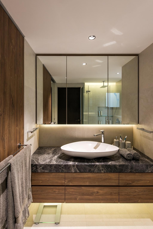 Scandinavian, Condo, Bathroom, Pinewood Gardens, Architect, 7 Interior Architecture, Sink, Indoors, Interior Design, Room