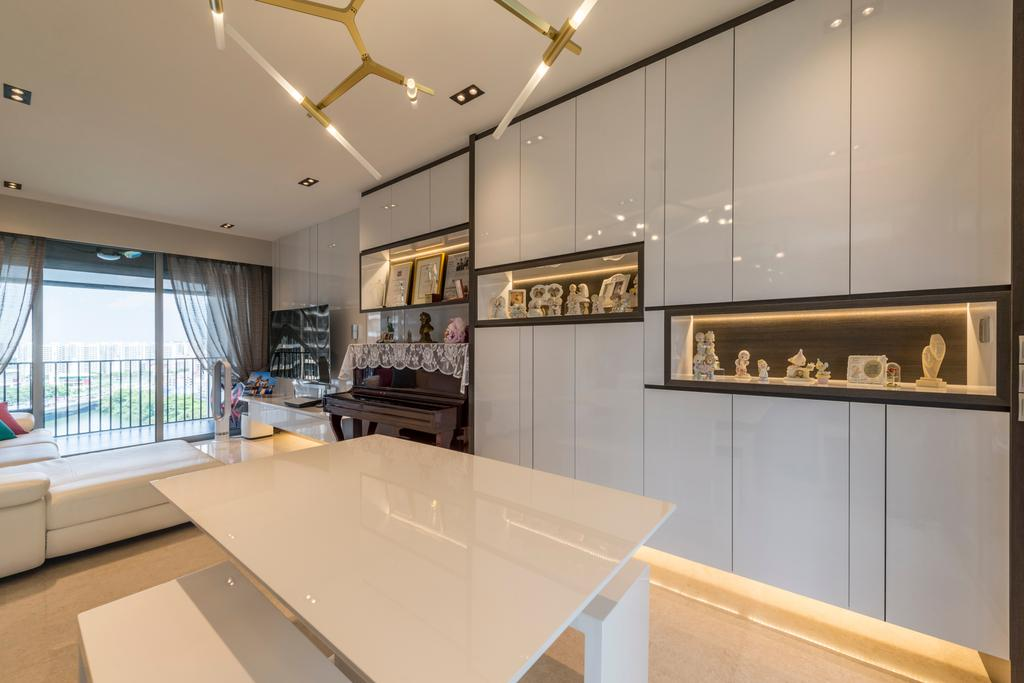 Scandinavian, Condo, Dining Room, Rivertrees Residences, Interior Designer, Meter Square, Indoors, Room