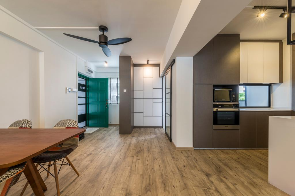 Modern, HDB, Dining Room, Pipit Road, Interior Designer, Meter Square, Flooring, Appliance, Electrical Device, Oven, Dining Table, Furniture, Table, Chair