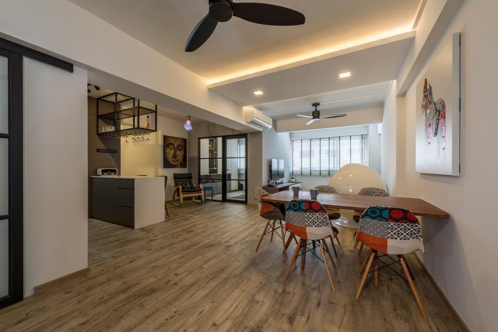 Modern, HDB, Dining Room, Pipit Road, Interior Designer, Meter Square, Chair, Furniture, Indoors, Interior Design, Room, Bar Stool
