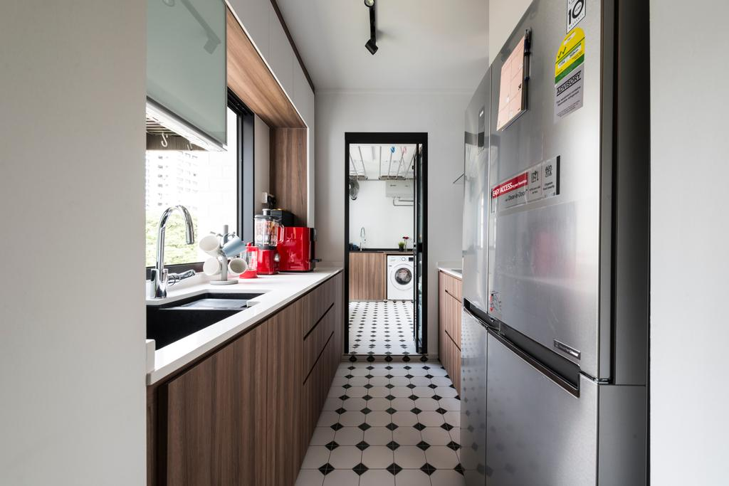 Modern, HDB, Kitchen, Pipit Road, Interior Designer, Meter Square, Appliance, Electrical Device, Fridge, Refrigerator