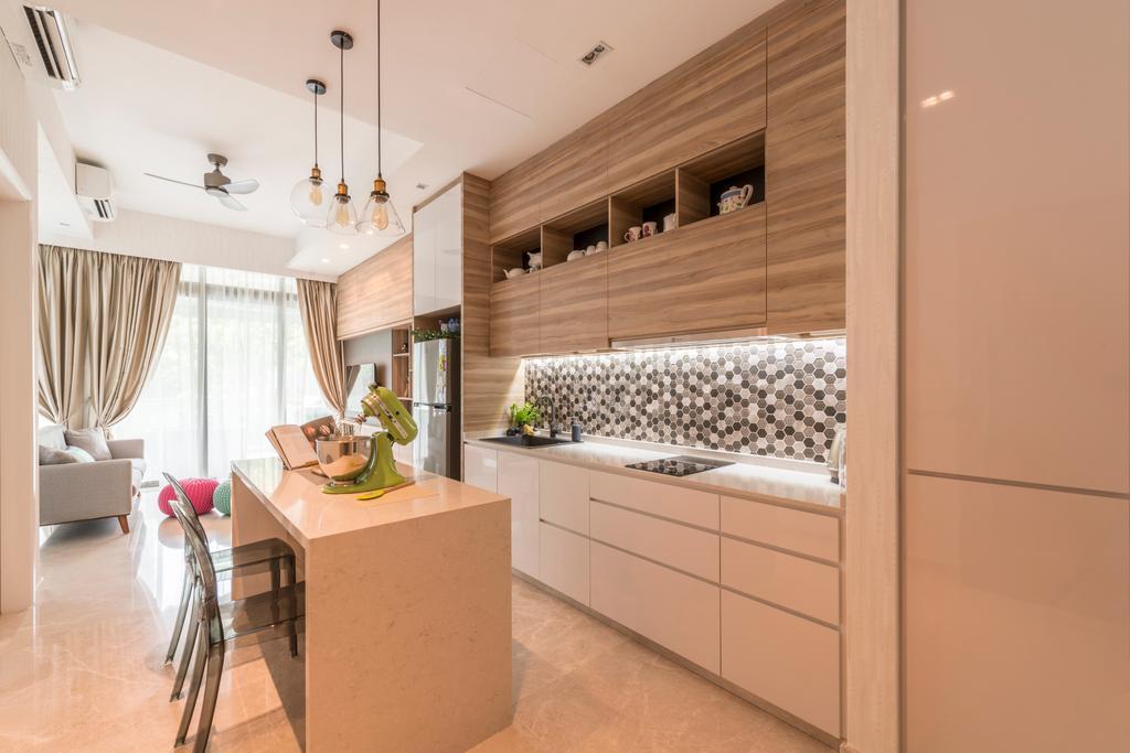 Scandinavian, Condo, Kitchen, Kingsford Hillview Peak, Interior Designer, Meter Square, Indoors, Interior Design