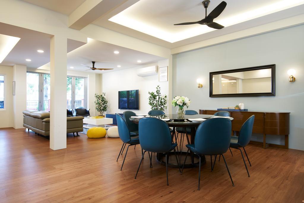 Scandinavian, Landed, Dining Room, Angsana Avenue, Interior Designer, Jubilee Interior, Flooring, Dining Table, Furniture, Table, Chair, Indoors, Room, Interior Design