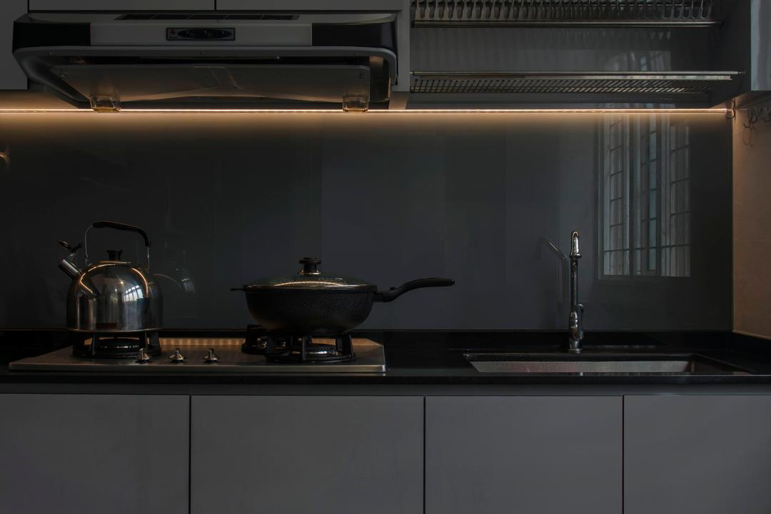 Choa Chu Kang, Cozy Ideas Interior Design, Scandinavian, Kitchen, HDB, Cooker