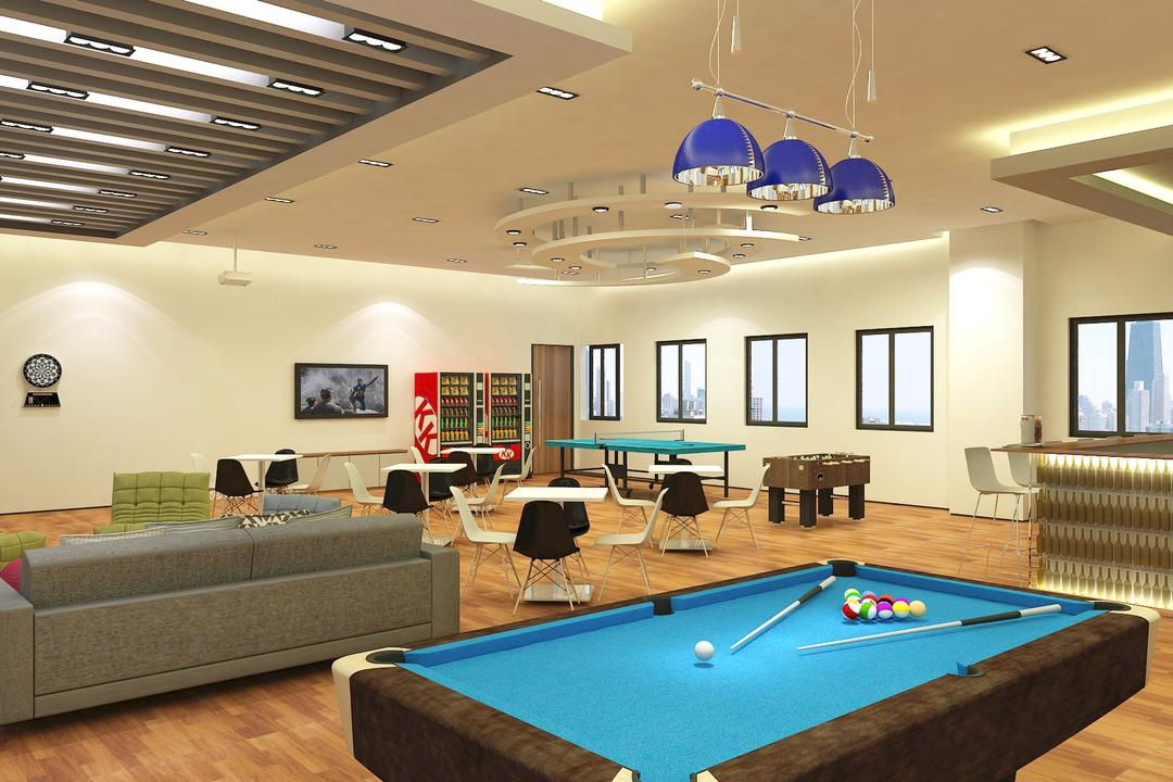 Marine Industry, WILSIN, Contemporary, Commercial, Billiard Room, Furniture, Indoors, Pool Table, Room, Table, Couch