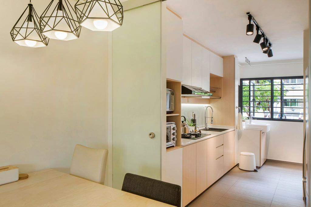 Scandinavian, HDB, Dining Room, Bishan Street 12, Interior Designer, Cozy Ideas Interior Design, Minimalistic, Indoors, Interior Design, Room, Window, Flooring, Light Fixture