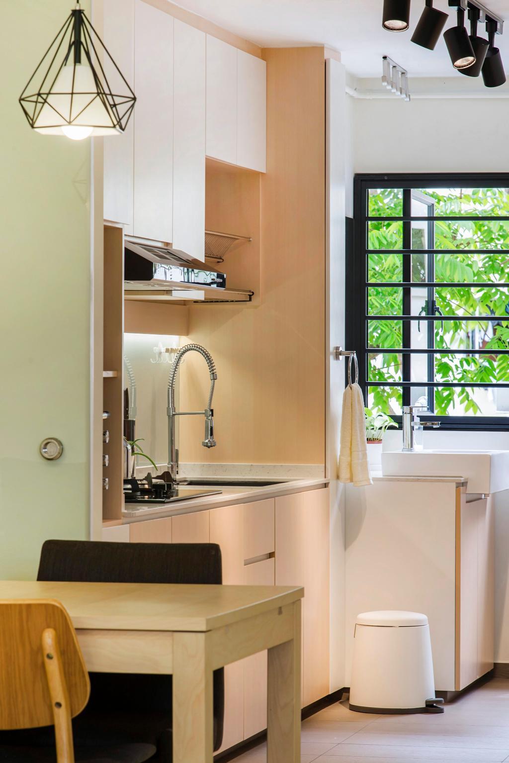 Scandinavian, HDB, Kitchen, Bishan Street 12, Interior Designer, Cozy Ideas Interior Design, Minimalistic, Window, Indoors, Interior Design