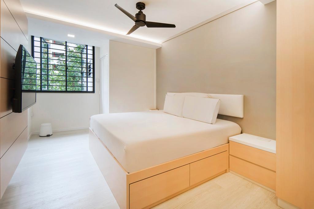 Scandinavian, HDB, Bedroom, Bishan Street 12, Interior Designer, Cozy Ideas Interior Design, Minimalistic, Bed, Furniture