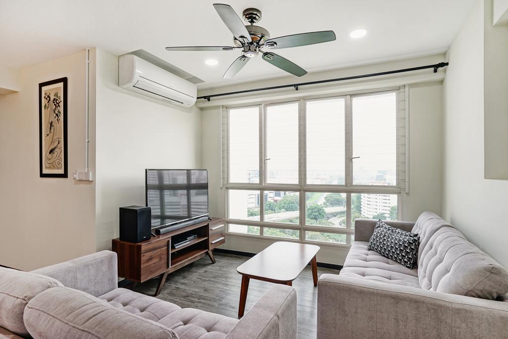 Minimalistic, HDB, Living Room, Bukit Batok Street 22, Interior Designer, Cozy Ideas Interior Design, Dining Table, Furniture, Table, Couch