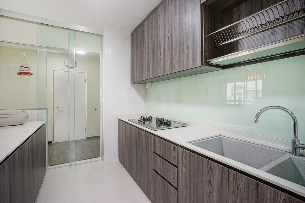 Minimalistic, HDB, Kitchen, Bukit Batok Street 22, Interior Designer, Cozy Ideas Interior Design, Bathroom, Indoors, Interior Design, Room