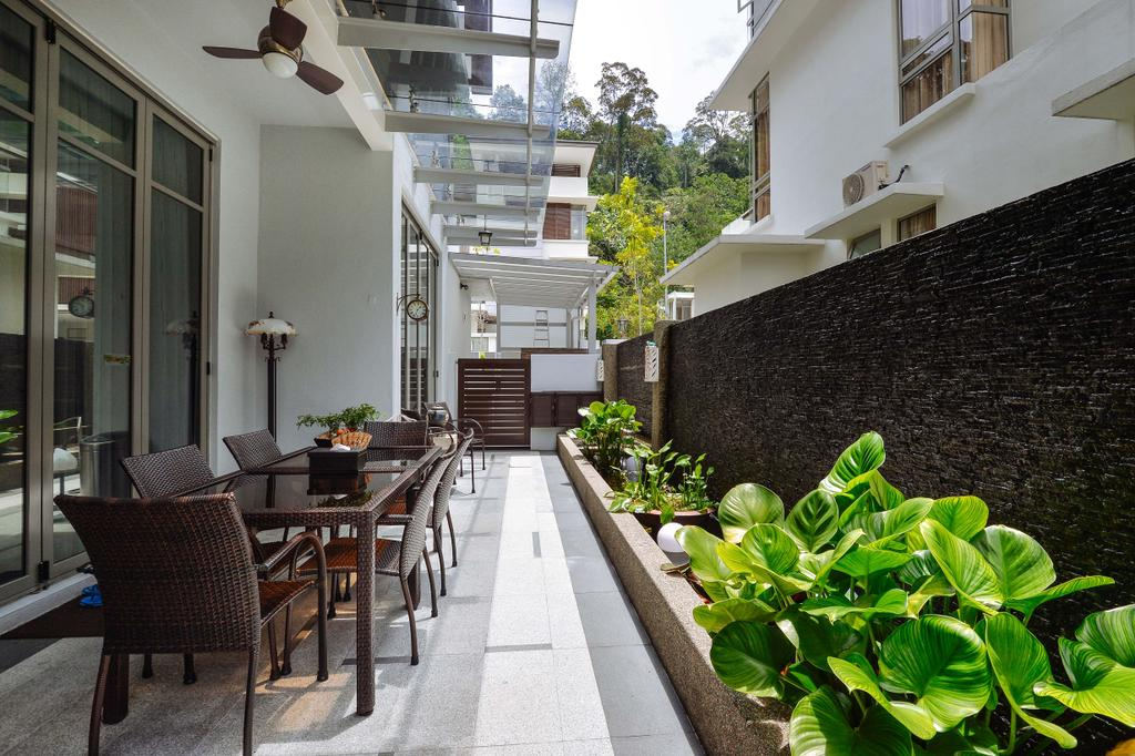 Transitional, Landed, Ampang Valley, Interior Designer, Icon Factory, Chair, Furniture, Bench, Flora, Jar, Plant, Potted Plant, Pottery, Vase, Dining Table, Table, Herbs, Planter