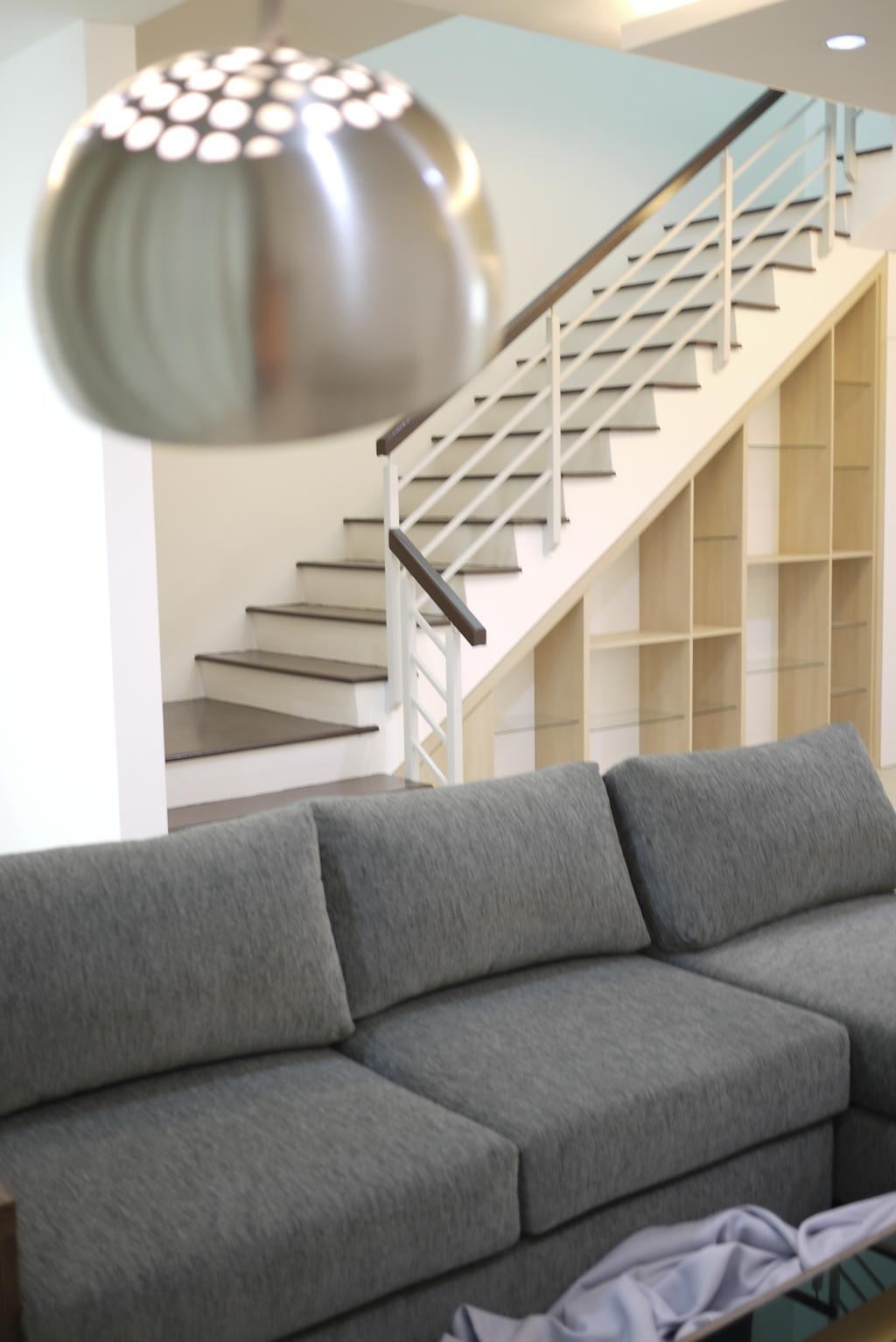 Minimalistic, Landed, Living Room, Bukit Tengah, Interior Designer, Minterior Project Sdn Bhd