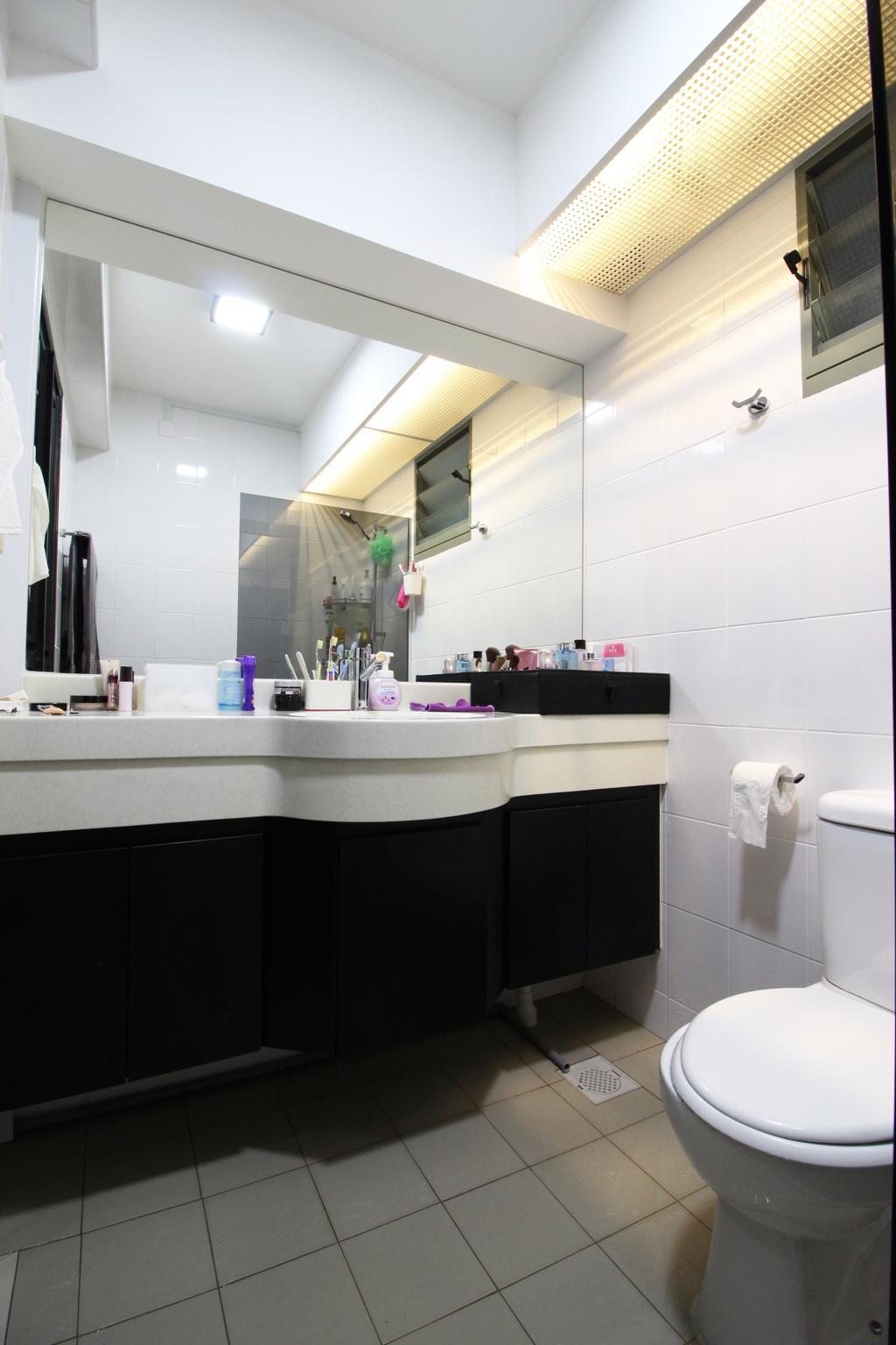 HDB, Bathroom, Punggol Drive, Interior Designer, Aestherior
