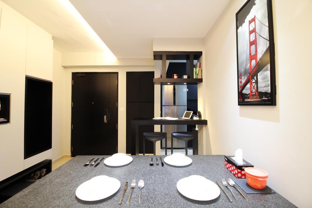HDB, Dining Room, Punggol Drive, Interior Designer, Aestherior, Bathroom, Indoors, Interior Design, Room