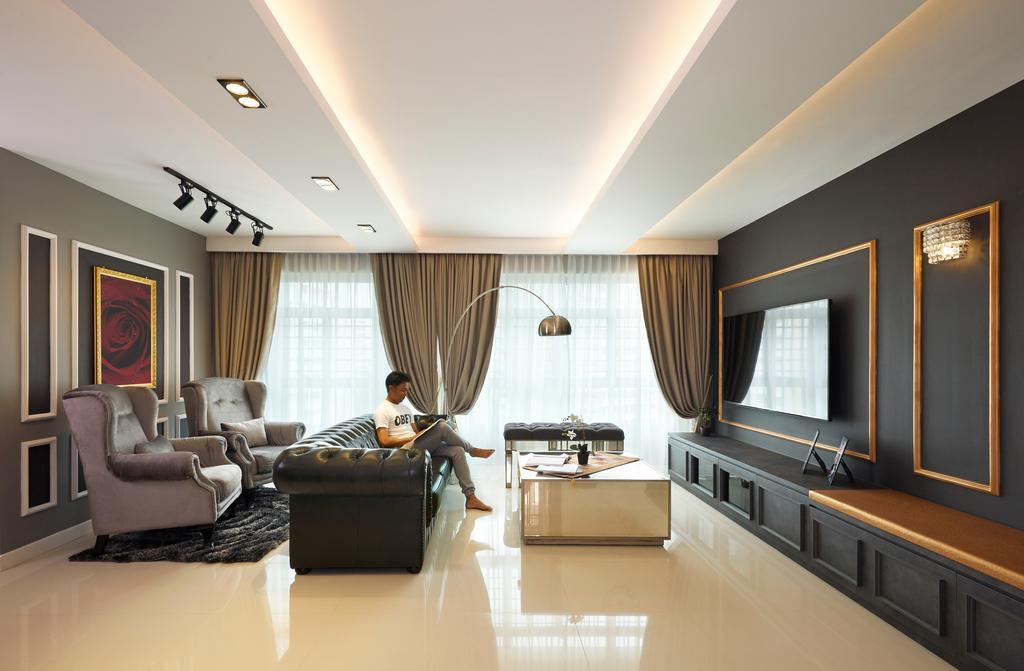 Contemporary, HDB, Living Room, Yishun Street 51 (Block 505B), Interior Designer, AC Vision Design, Object Object