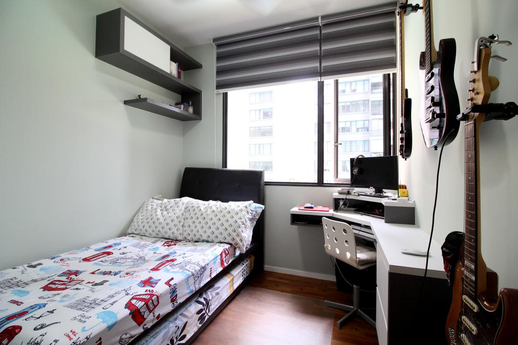 Condo, The Amore, Interior Designer, Aestherior, Human, People, Person, Electric Guitar, Guitar, Leisure Activities, Music, Musical Instrument, Appliance, Electrical Device, Oven, Bedroom, Indoors, Interior Design, Room