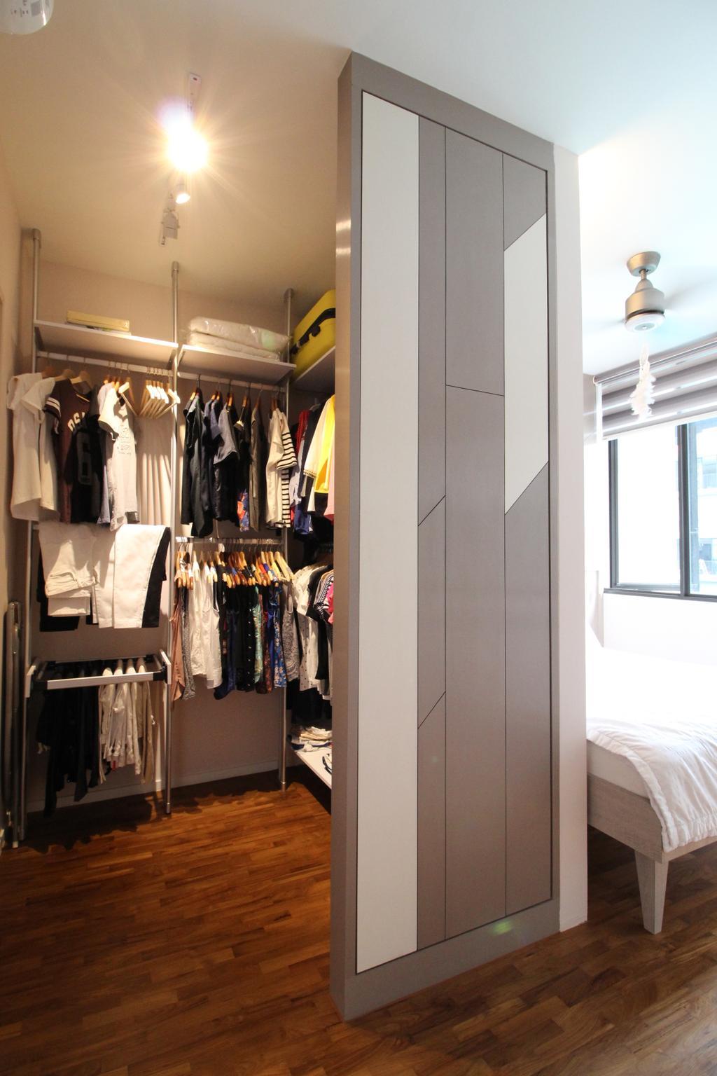 Condo, The Amore, Interior Designer, Aestherior, Apparel, Clothing, Closet, Light Fixture
