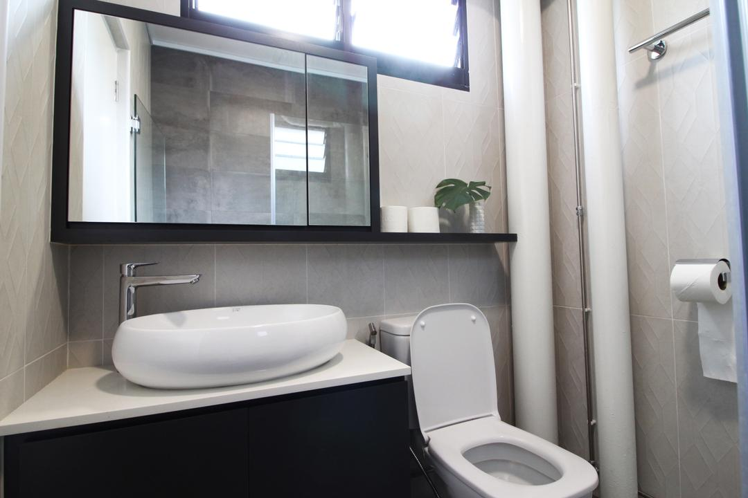 Simei Street 1, Aestherior, Contemporary, Scandinavian, HDB, Toilet, Paper, Paper Towel, Tissue, Toilet Paper, Towel, Bathroom, Indoors, Interior Design, Room