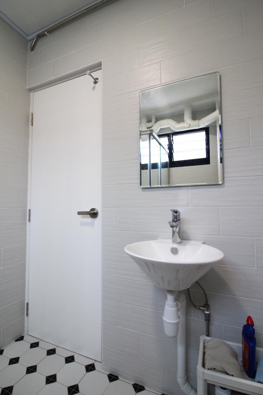 Contemporary, HDB, Bathroom, Simei Street 1, Interior Designer, Aestherior, Scandinavian