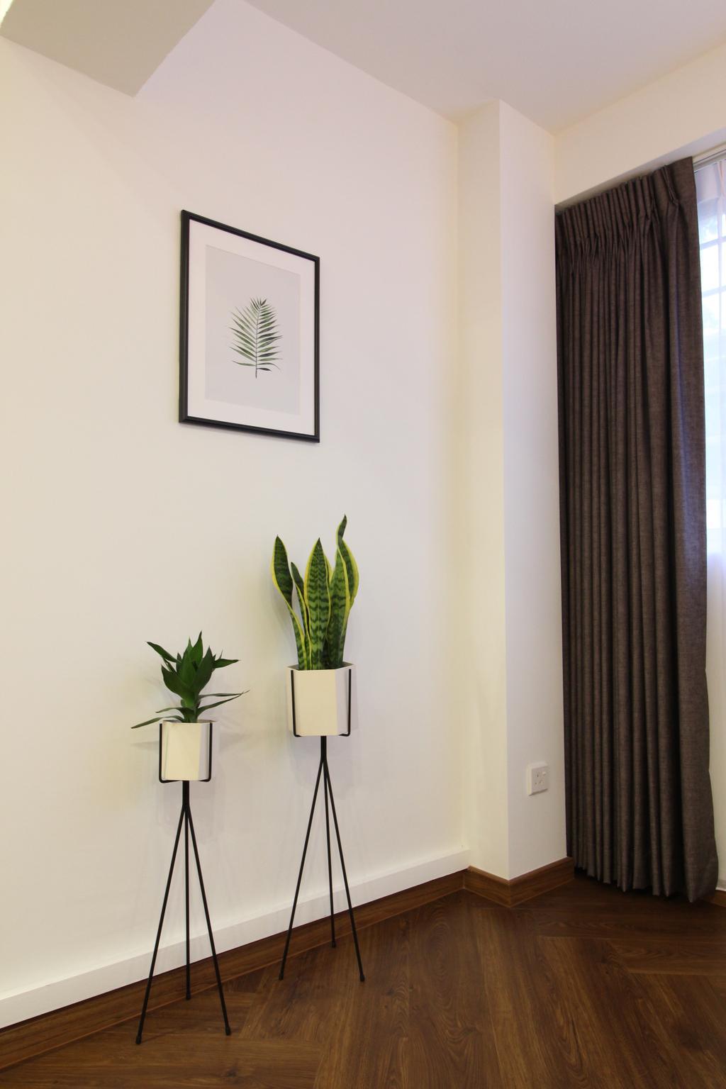 Contemporary, HDB, Simei Street 1, Interior Designer, Aestherior, Scandinavian, Flora, Jar, Plant, Potted Plant, Pottery, Vase, Art, Blossom, Flower, Flower Arrangement, Ikebana, Ornament