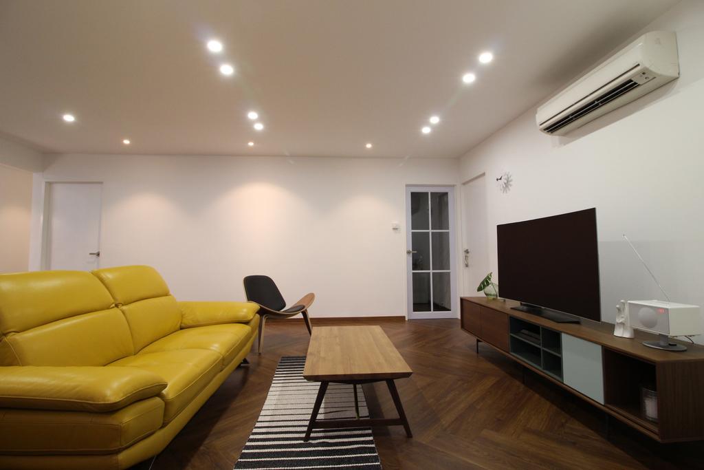 Contemporary, HDB, Living Room, Simei Street 1, Interior Designer, Aestherior, Scandinavian, Couch, Furniture, Chair, Building, Housing, Indoors, Loft, Room