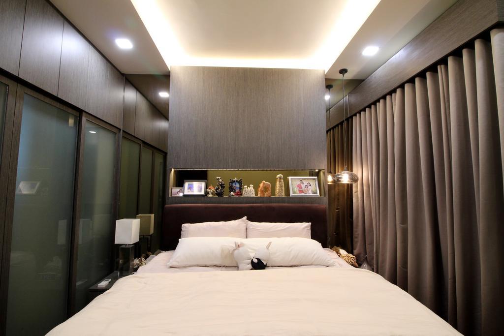 Condo, Bedroom, Parc Palais, Interior Designer, Aestherior, Corridor, Indoors, Room