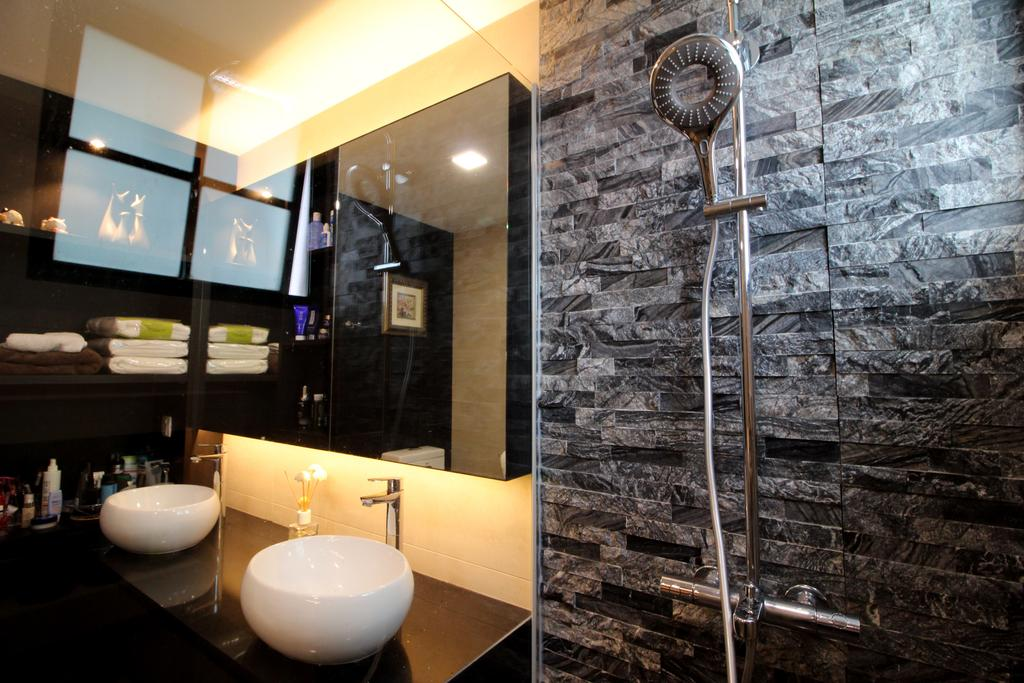 Condo, Bathroom, Parc Palais, Interior Designer, Aestherior, Sink, Indoors, Interior Design, Toilet, Restaurant