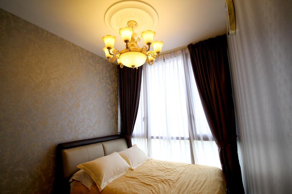 Condo, Bedroom, The Trilinq, Interior Designer, Aestherior, Curtain, Home Decor