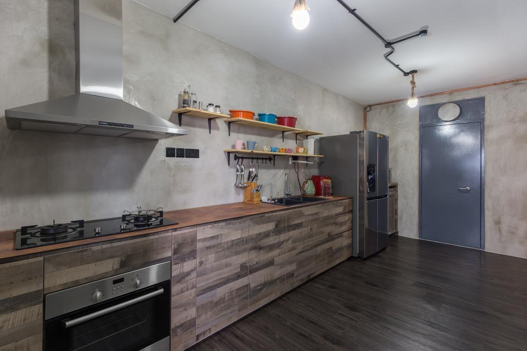 Jurong West Street 65, Butler Interior, Industrial, Kitchen, HDB, Shower