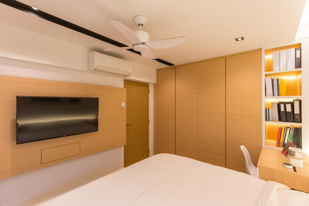 Scandinavian, HDB, Bedroom, Shunfu Road, Interior Designer, Posh Home, Indoors, Interior Design, Bed, Furniture