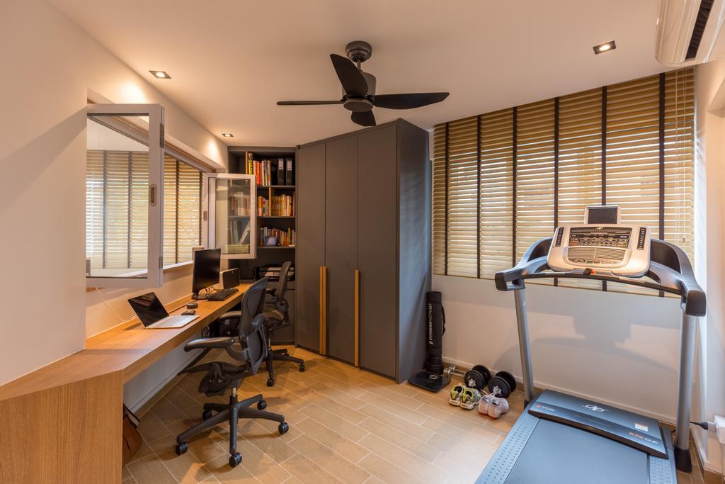 Scandinavian, HDB, Study, Shunfu Road, Interior Designer, Posh Home, Chair, Furniture, Closet, Wardrobe, Building, Housing, Indoors, Machine, Printer, Office