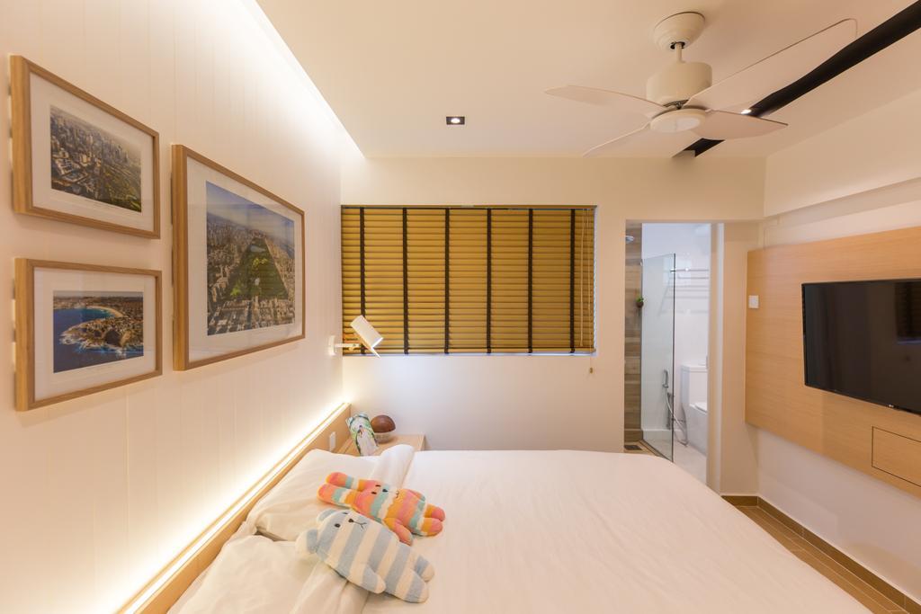Scandinavian, HDB, Bedroom, Shunfu Road, Interior Designer, Posh Home, Art, Art Gallery, Molding, Indoors, Interior Design, Room