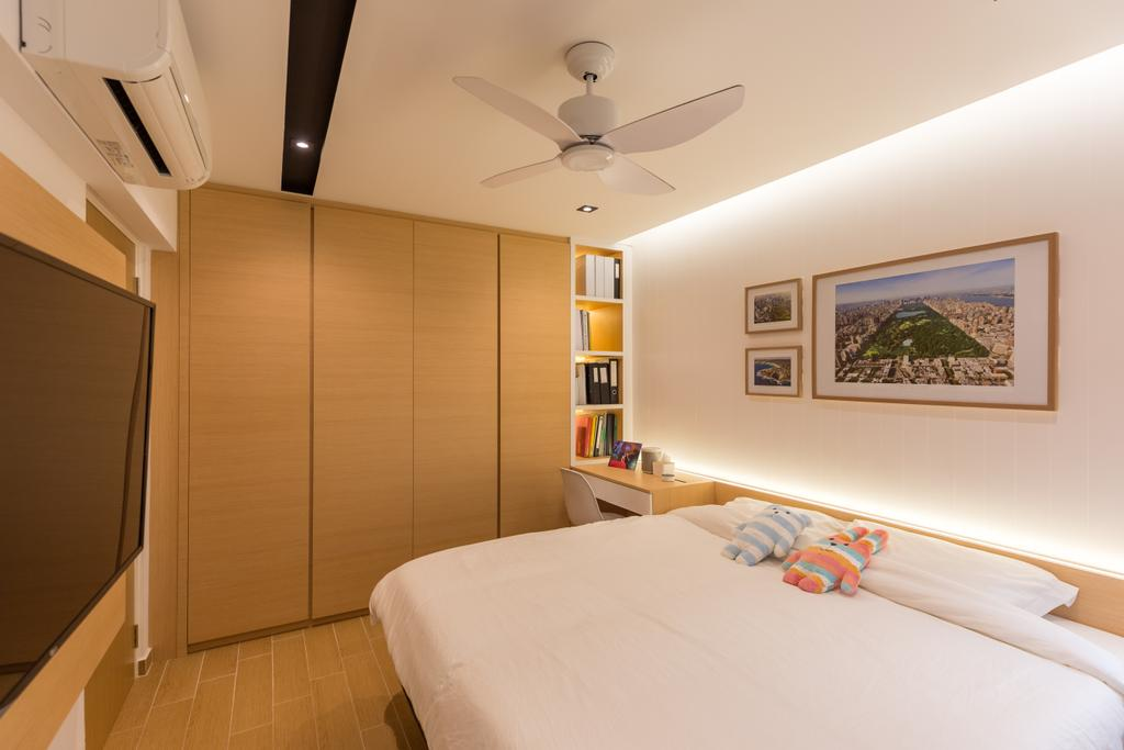 Scandinavian, HDB, Bedroom, Shunfu Road, Interior Designer, Posh Home, Bed, Furniture, Indoors, Interior Design, Room
