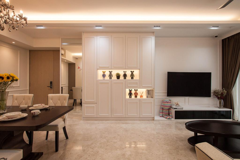 Transitional, Condo, Living Room, The Venue Residences, Interior Designer, Space Atelier, Indoors, Room, Couch, Furniture