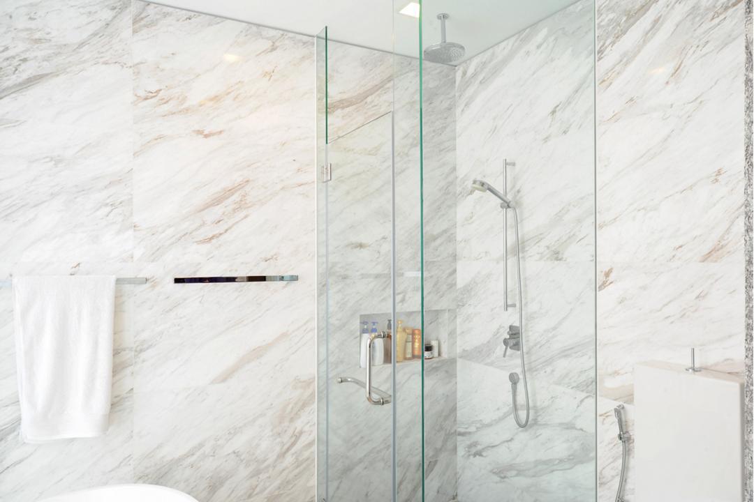 32 Allamanda Grove, TENarchitects, Contemporary, Bathroom, Landed, Marble, Tiles, White, Clean, Simple, Opulent, Royal, Elegant