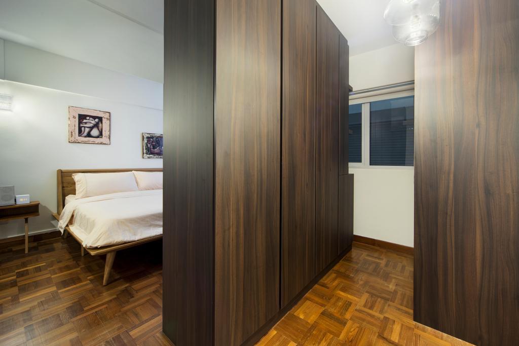 Eclectic, HDB, Bedroom, Jalan Batu Masionette, Interior Designer, Space Concepts Design, Parquet, Wood Wardrobe, Walk In Wardrobe, Floor, Couch, Furniture