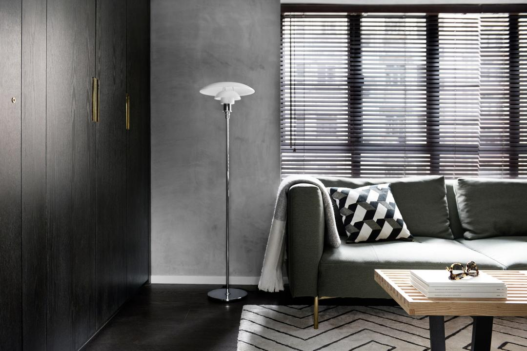 跑馬地, hoo, 北歐, 工業, 客廳, 私家樓, Bachelor Pad, Couch, Furniture, Chair