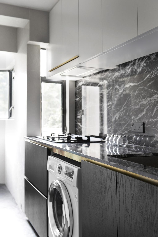 北歐, 私家樓, 廚房, 跑馬地, 室內設計師, hoo, 工業, Backsplash, Appliance, Electrical Device, Oven