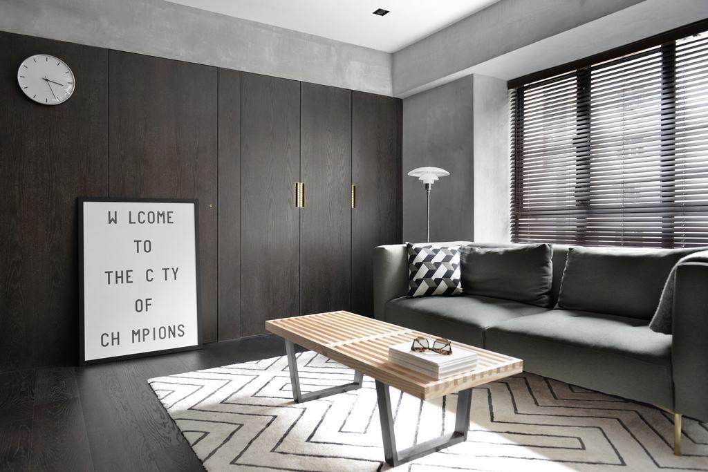 北歐, 私家樓, 客廳, 跑馬地, 室內設計師, hoo, 工業, Chair, Furniture, Couch